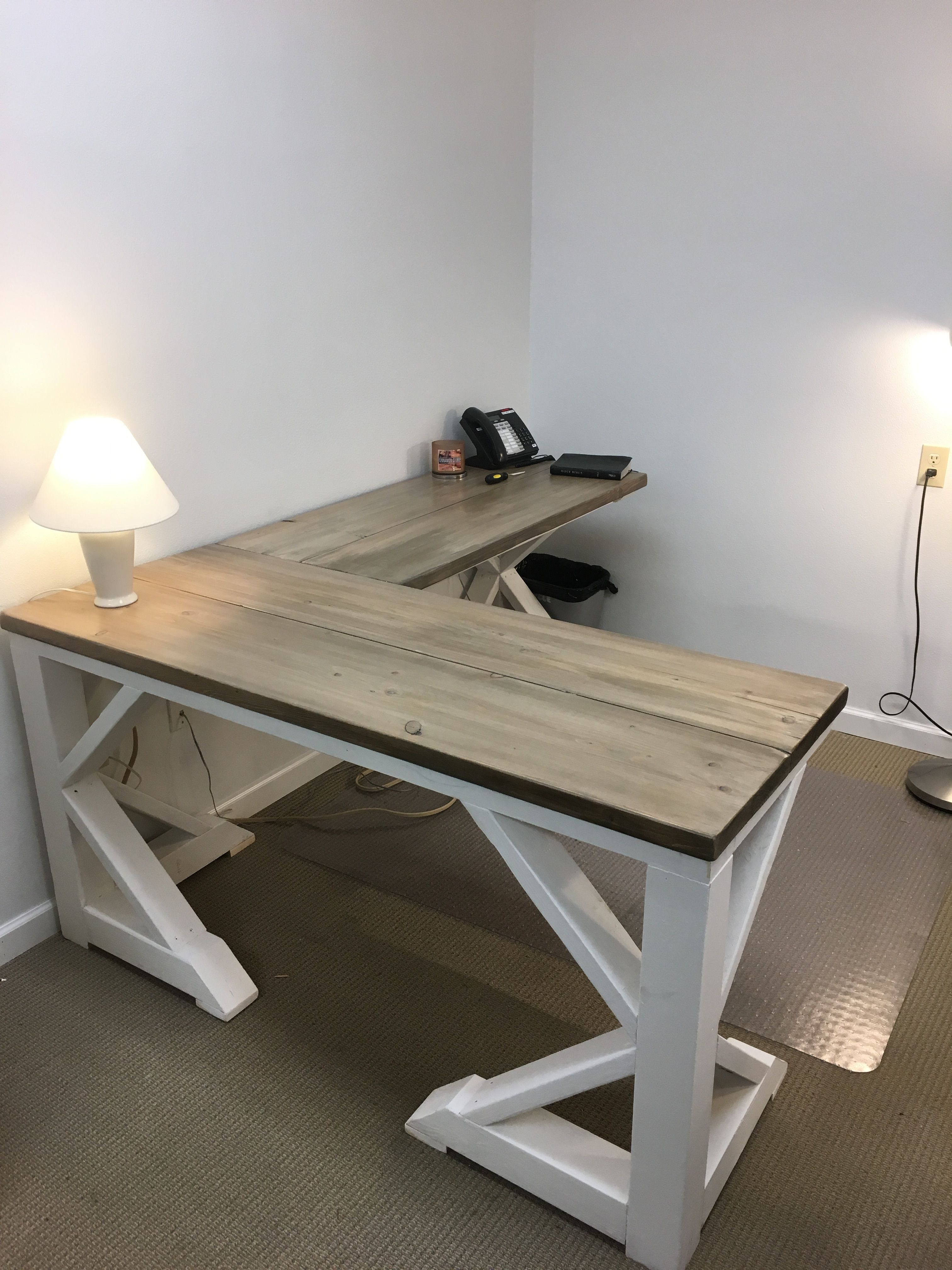 Diy Farmhouse Desk For 75 00 Cheap Home Decor Rustic House
