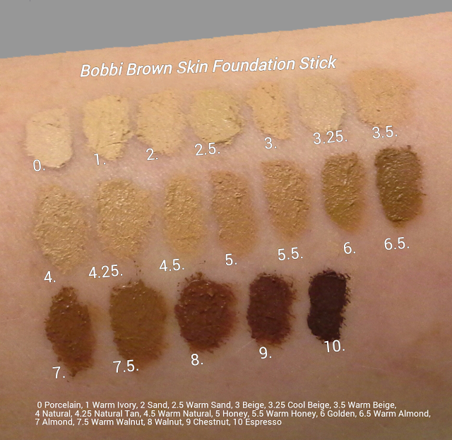 Bobbi Brown Skin Foundation Stick Swatches Makeup Pinterest