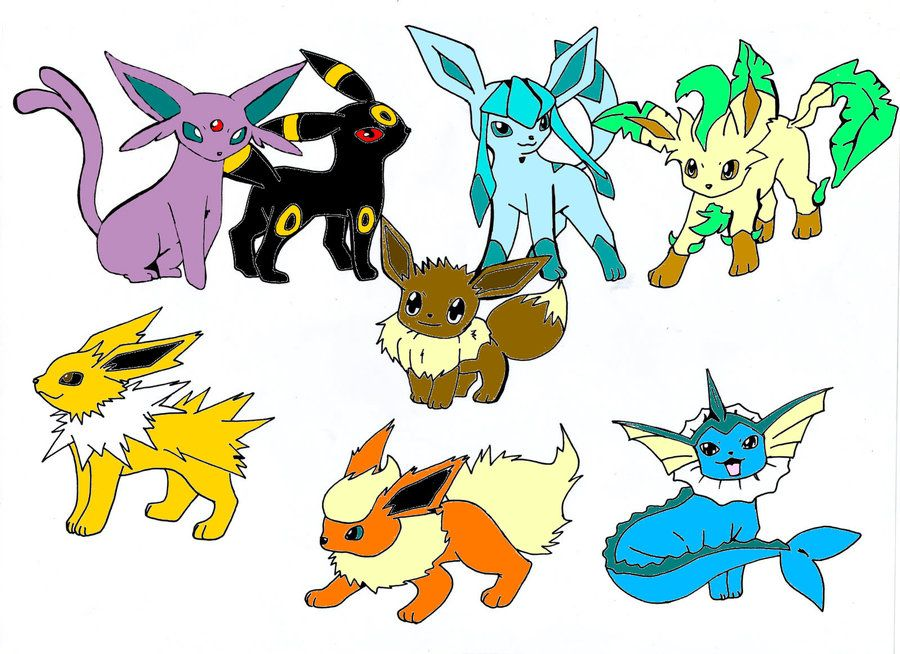 eevee evolution All Eevee evolutions by SakuraAlexia
