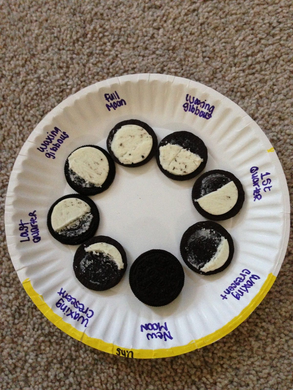 Phases Of The Moon Model Put Use Cut Amp Paste Pictures Instead Of Oreos