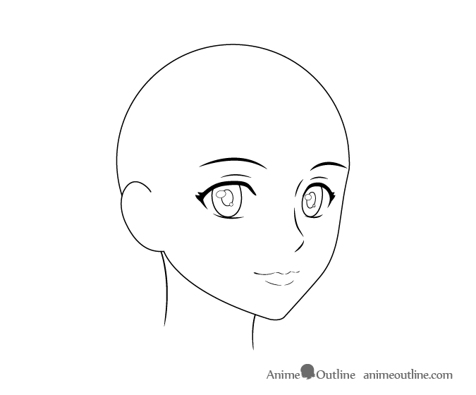 Anime Female Head 3 4 View Drawings Woman Face Art Tutorials