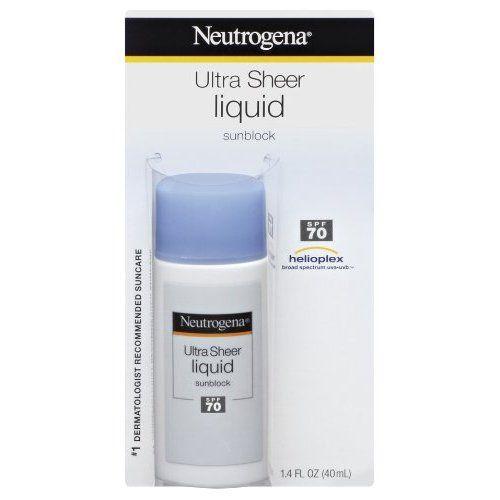 Neutragena Ultra Sheer Liquid Sunblock, SPF 70