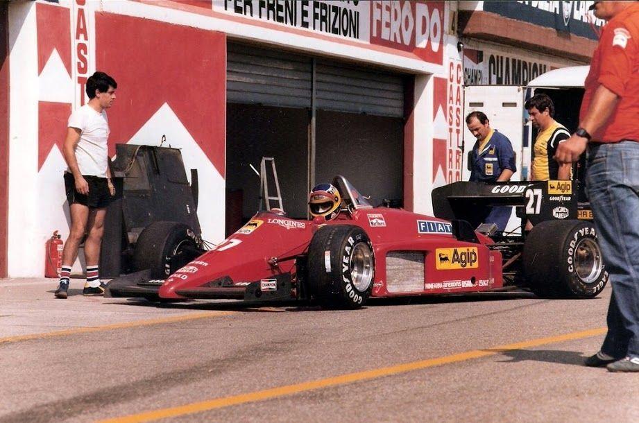 Michele Alboreto (ITA) (Scuderia Ferrari), Ferrari 156/85 - Ferrari V6 (RET) 1985 San Marino Grand Prix, Autodromo Dino Ferrari http://f1-history.deviantart.com/art/Michele-Alboreto-San-Marino-1985-337441919