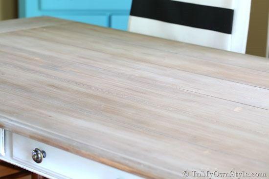 Furniture Makeover: Weathered Driftwood Furniture Finish. White Wood  StainGrey ...