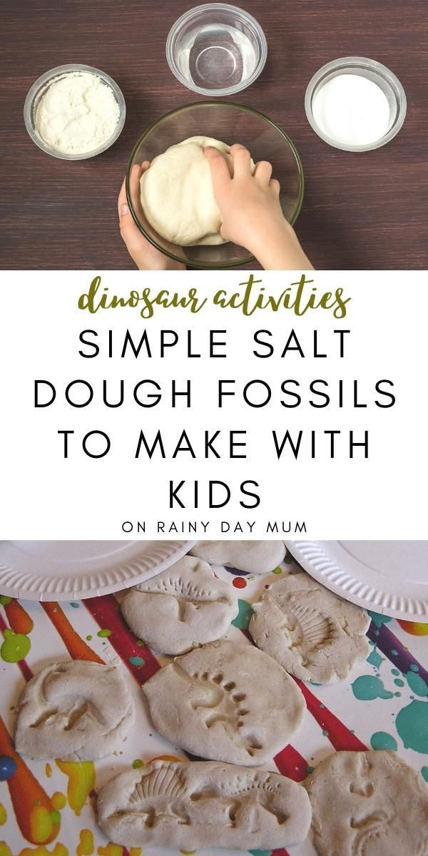 Simple Salt Dough Fossils to Make with Kids