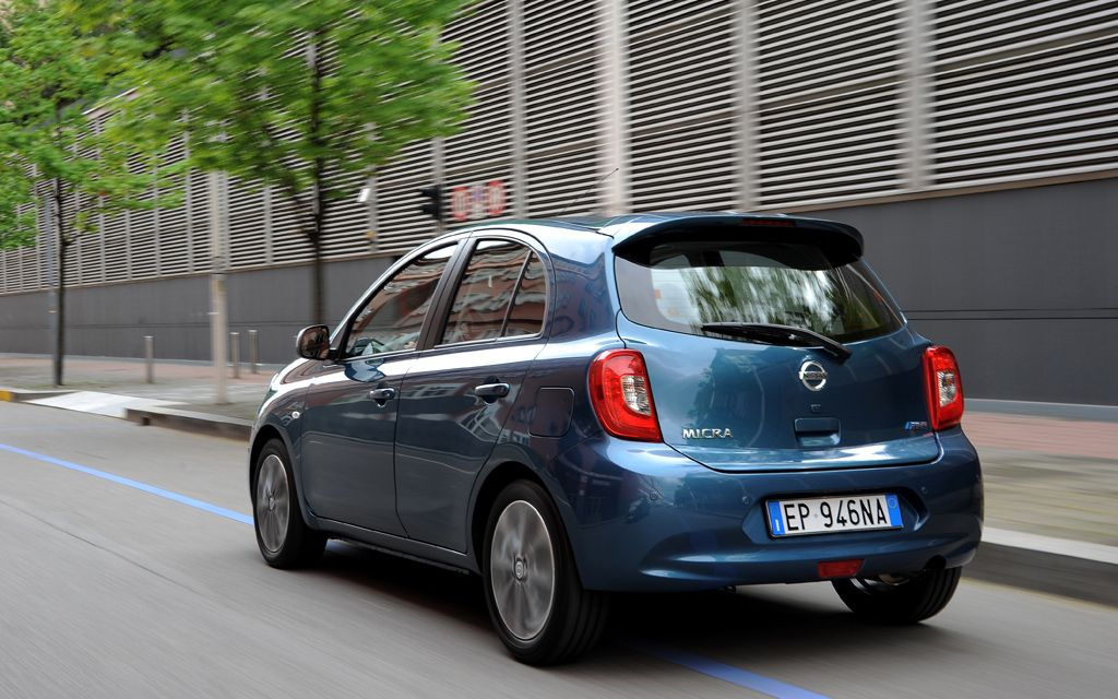 Blue Nissan Micra Rear View Nissan March Nissan Nissan March 2015