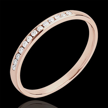Alliance or rose 18 carats diamant