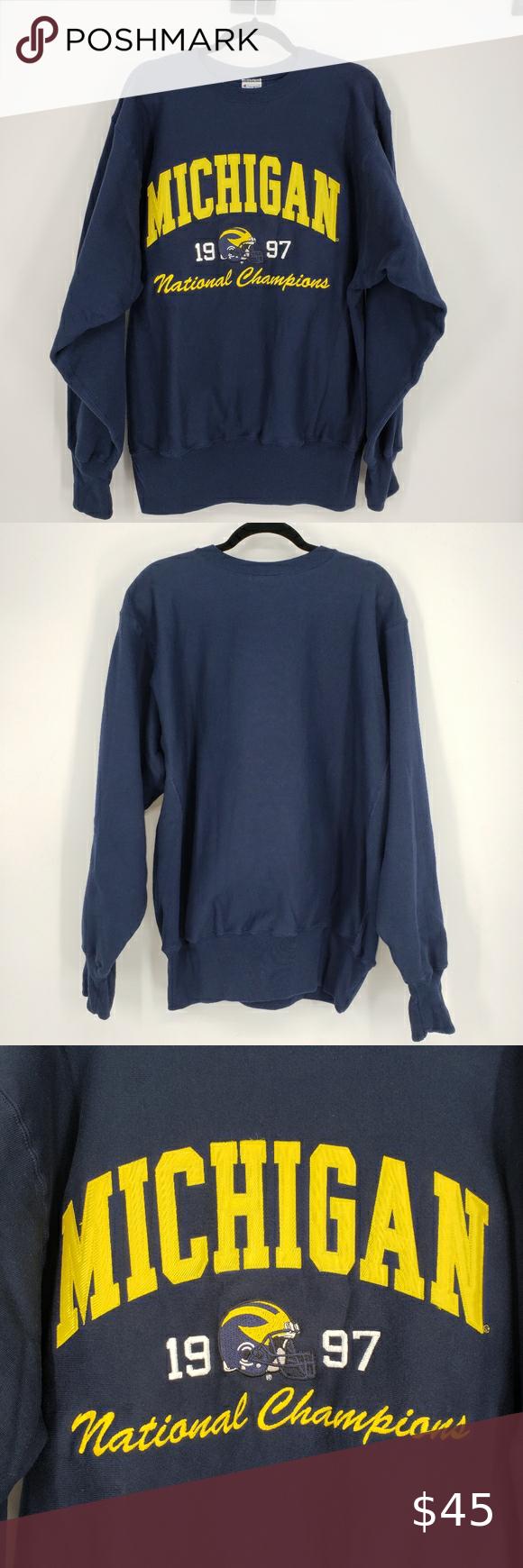 U Of M Vintage Reverse Weave Champion Sweatshirt Champion Sweatshirt Sweatshirts Sweatshirt Shirt [ 1740 x 580 Pixel ]