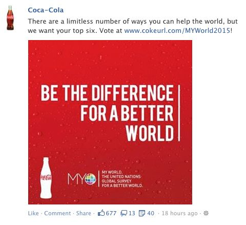 coke, facebook post, statement post