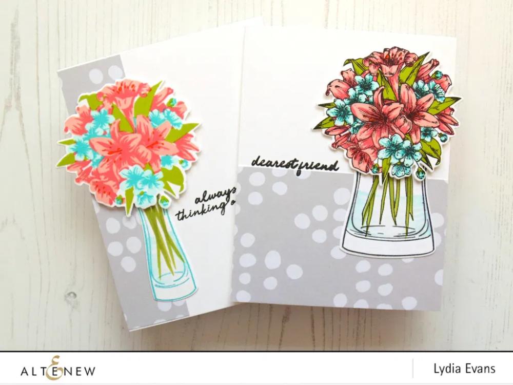Video Lydia S Crafty Corner Outlines Vs No Outlines Altenew Blog Handmade Thank You Cards Cards Handmade Crafty