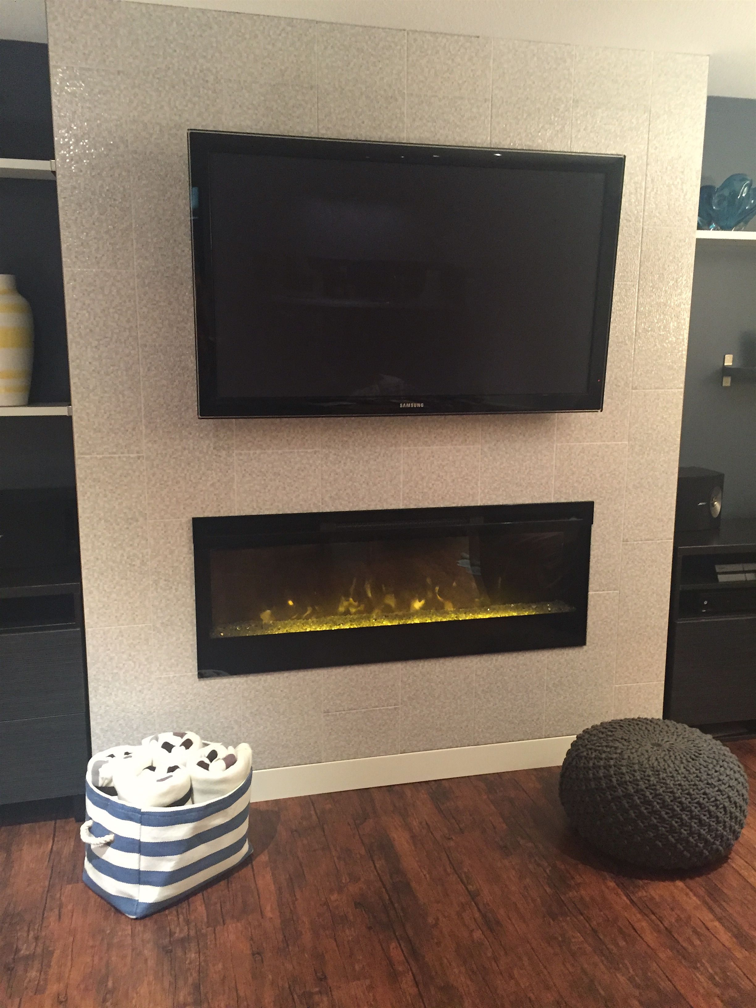 Fireplace is a inch dimple about inches on each side of the