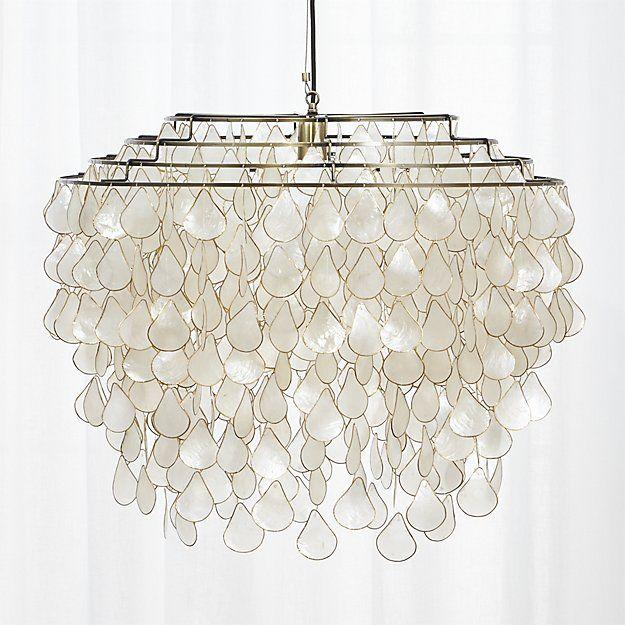 teardrops capiz chandelier | Capiz chandelier, Iridescent ...