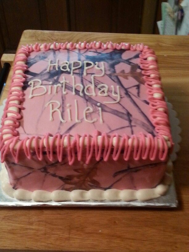 Pink camo cake Cakes Ive Done Pinterest Pink camo cakes Camo