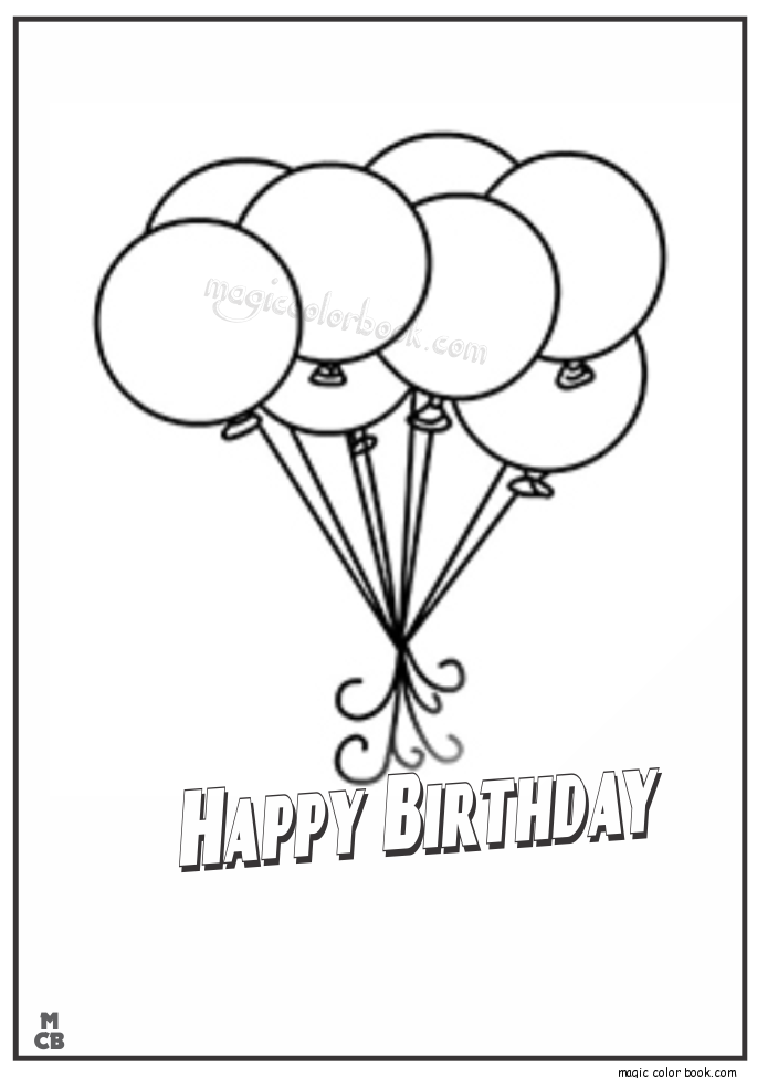 pin by magic color book on birthday coloring pages pinterest