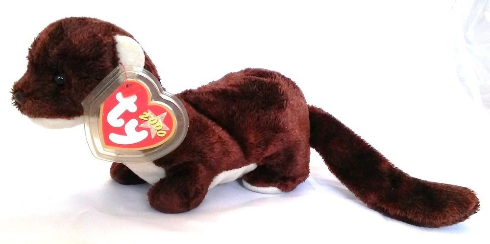 5a78c2556b7 Ty Beanie Baby Runner The Ferret Plush With Errors Retired 2000 Mean Cobra  Poem  Ty