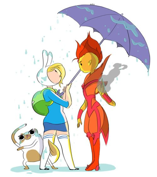 Fionna and Flame Prince...adventure time is quickly becoming an obsession for me.-to late it already is