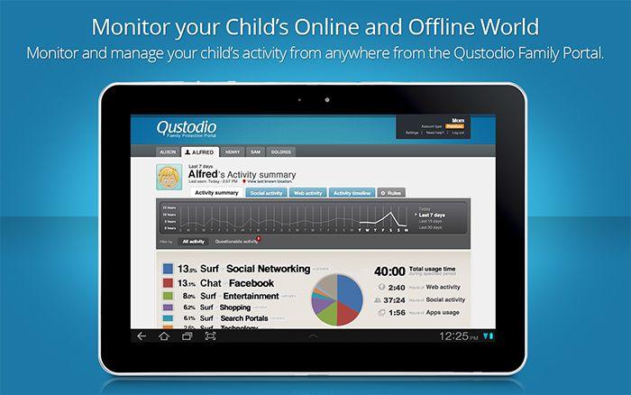Qustodio Parental Control for android Parental control