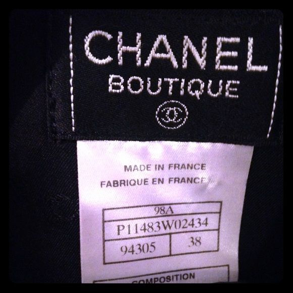 CHANEL Boutique Skirt CHANEL Boutique Skirt in pristine condition with high quality fabric. Perfect for any high fashion fashionista who loves a good price. CHANEL lining, clasp and button. Size 38 but for those who don't know CHANEL it fits like a small or xs even. Love this piece but I don't fit in it anymore. Ask any questions. CHANEL Skirts Mini