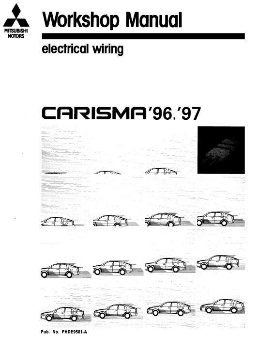 PDF ONLINE Mitsubishi Carisma 1996 1997 ELECTRICAL