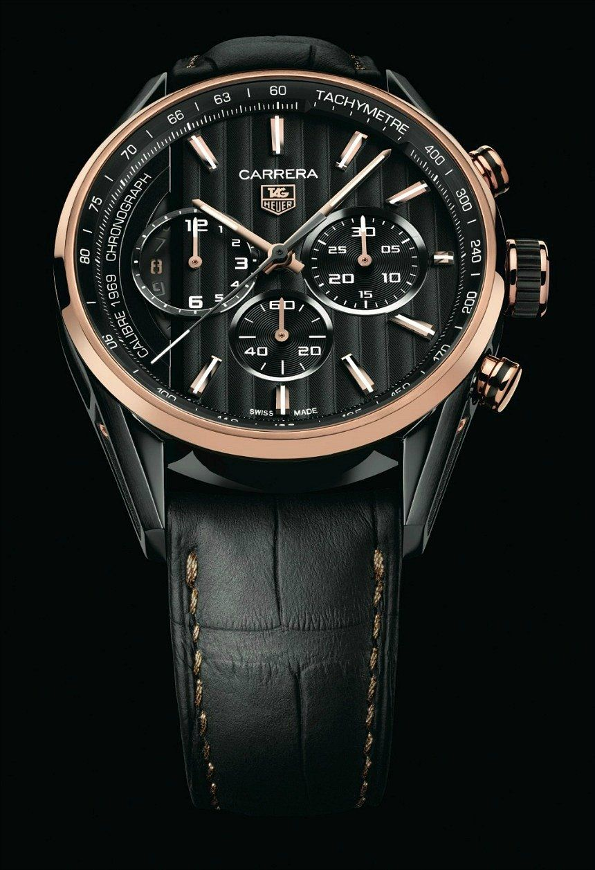 6b6cec47924 TAG Heuer Debuts Carrera Calibre 1969 Watch With Black & Gold Limited  Edition - by