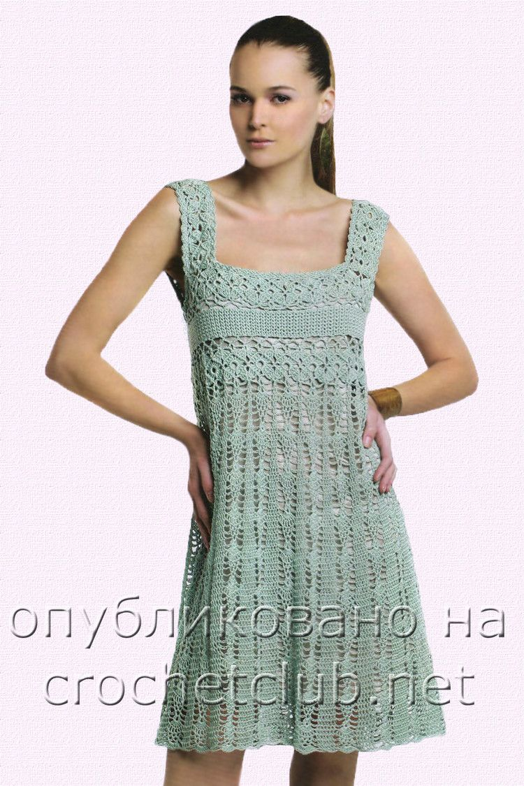 crochet dress pattern - this will look very good if it is crocheted ...