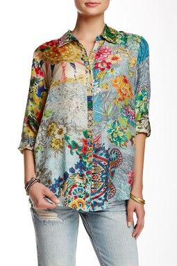 dc6f0277c44 Print Silk Blouse. Find this Pin and more on  Tops   ...