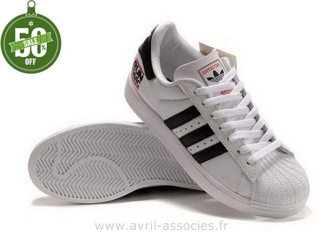 chaussure adidas femme noir et blanche