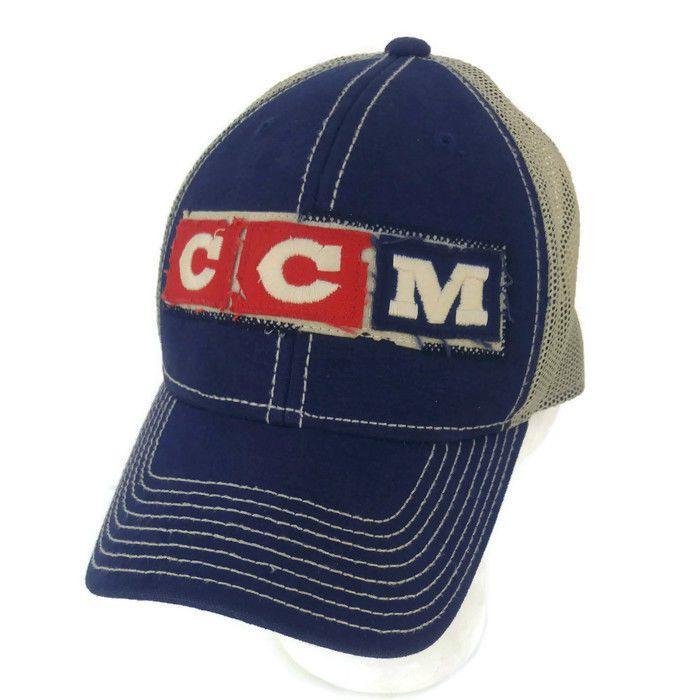53aedecd9004e2 CCM Vintage Throwback Team USA Hockey Hat Truckers Mesh Snapback Denim New  #ReebokforCCM #TeamUSA