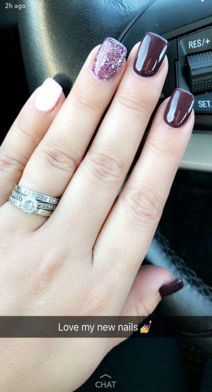 Nails Glitter Burgundy Fall 26 Ideas For 2019 Design Designer Designs Designl Toe Nails Dipped Nails Nails