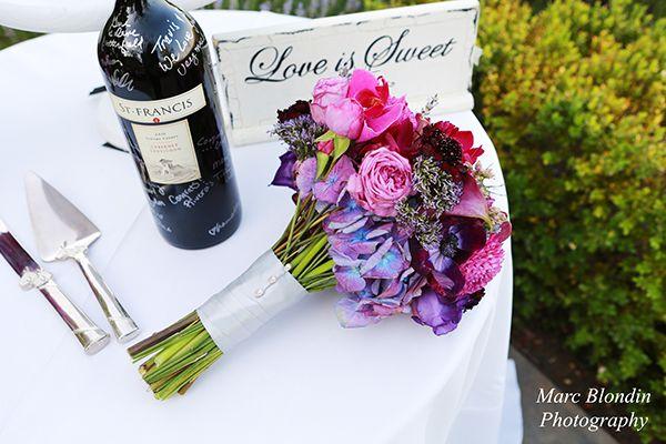 St. Francis Winery Wedding   Marc Blondin Photography   Pink & Purple