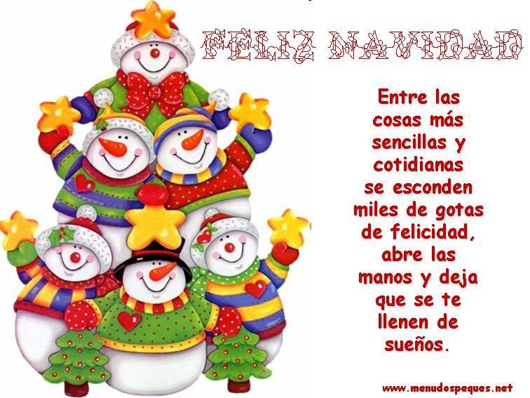 Tarjetitas de navidad con mensajes bonitos
