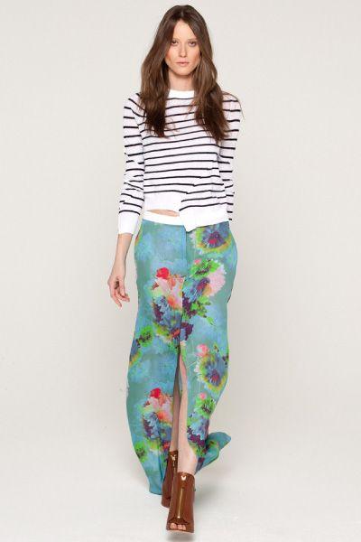 Stripes + Florals = Perfection. ALC look