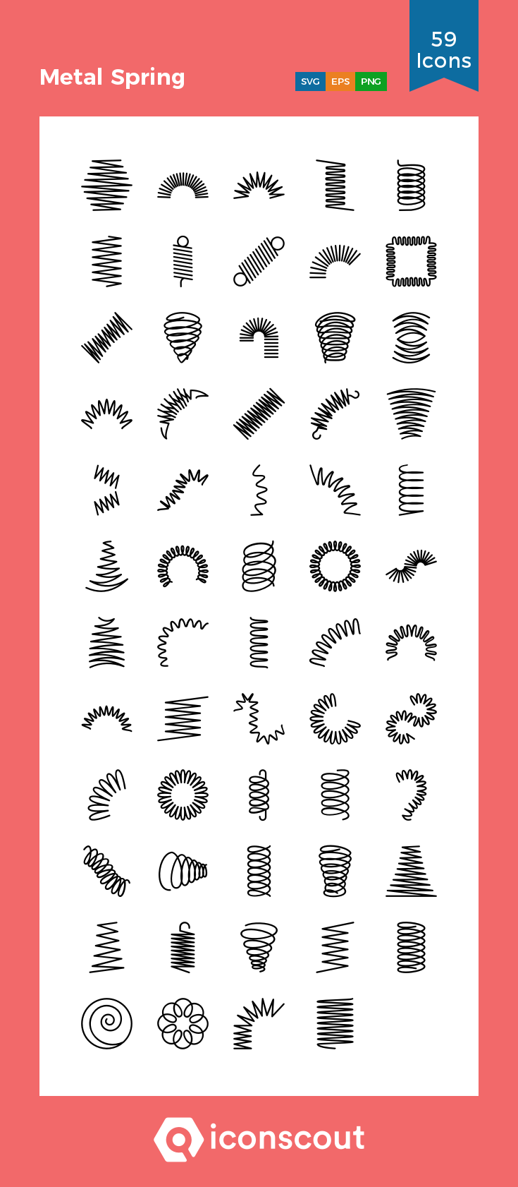 Download Metal Spring Icon Pack Available In Svg Png Eps Ai Icon Fonts Metal Spring Spiral Line Icon