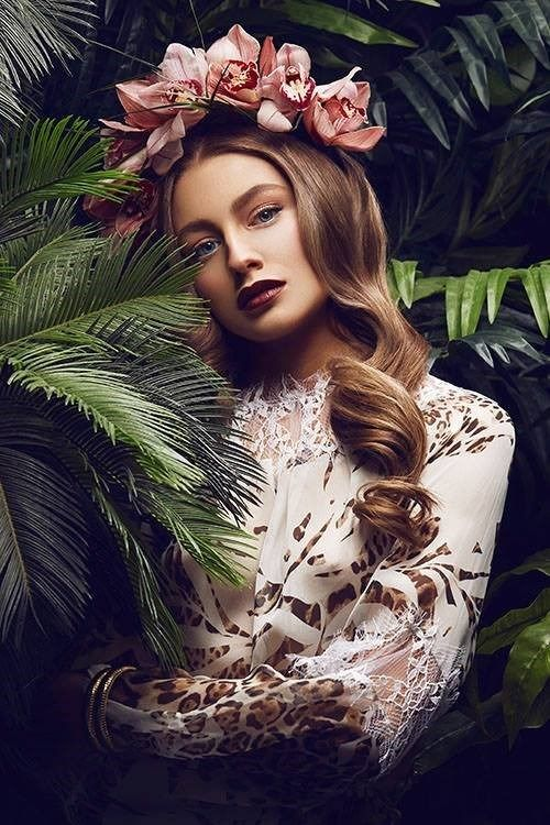 Floral Hipster Chic High Fashion Maxin Beauty Photography