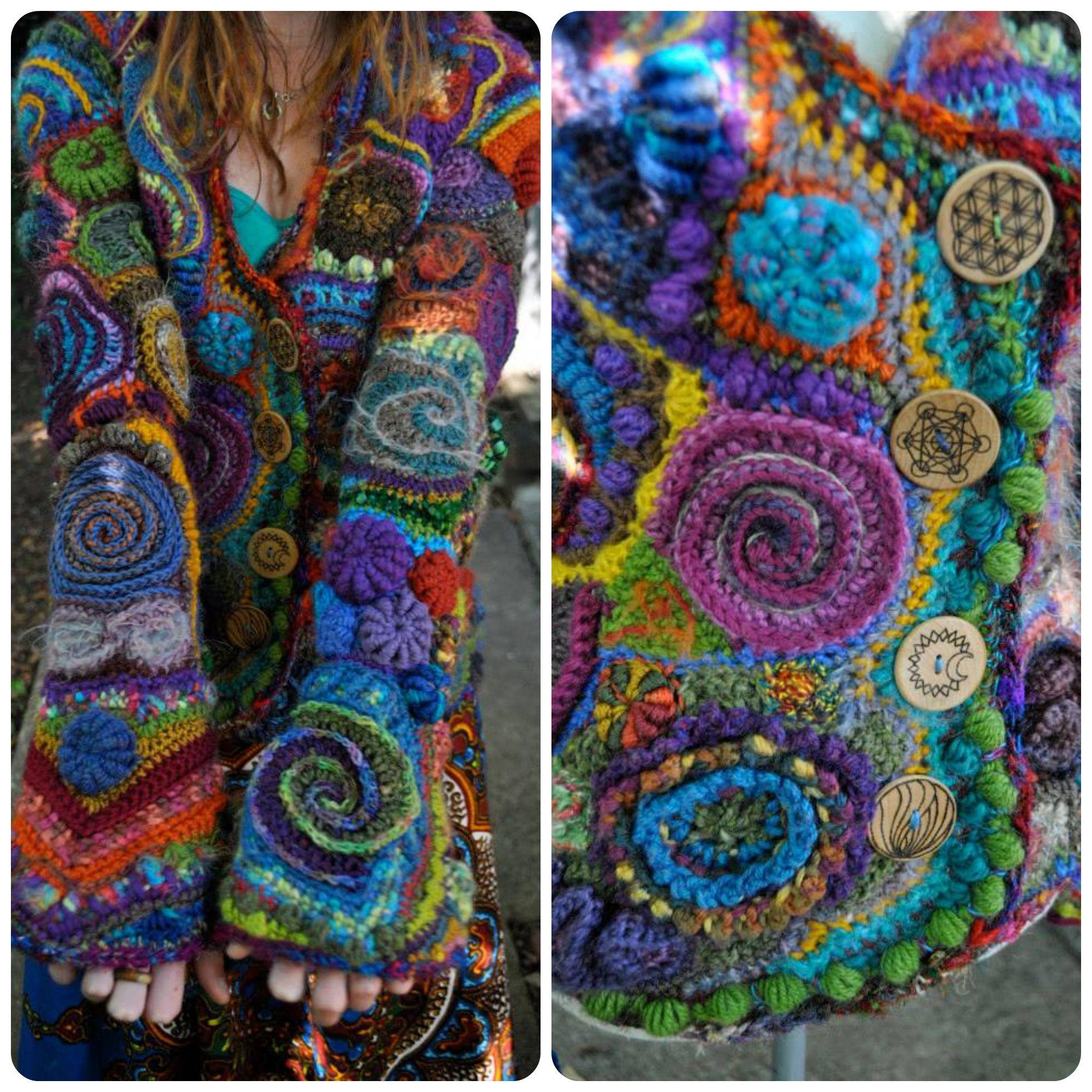 Freeform crochet is a way of making a series of motifs ...
