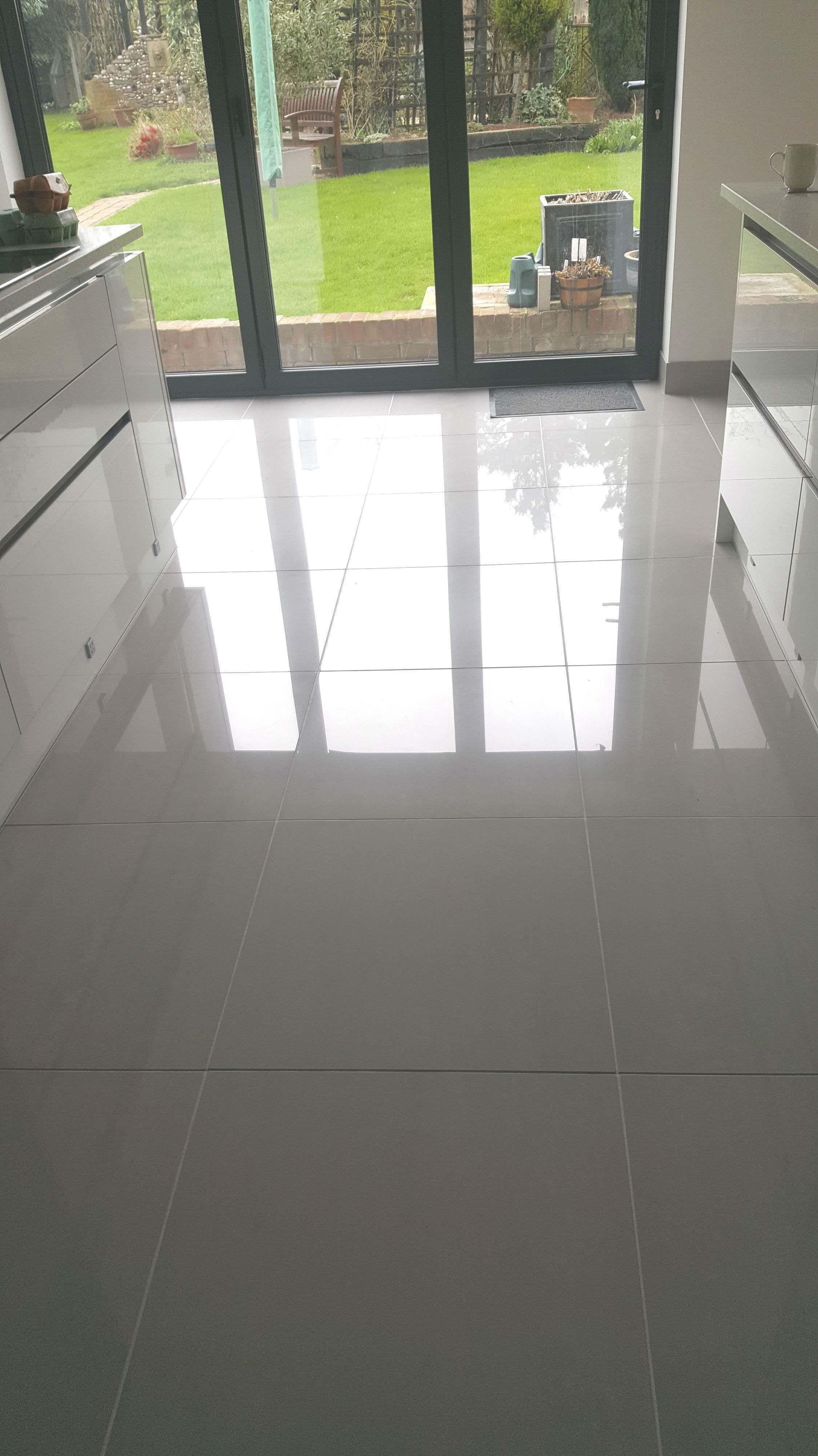 Doblo Light Grey Polished Porcelain Grey Tile Kitchen Floor