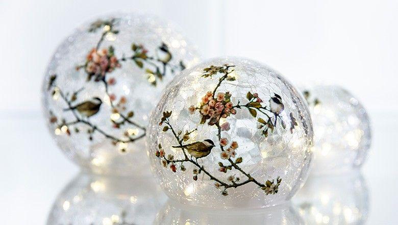Hse24 Led Kerzen.Led Glaskugel Set 3 Teilig Online Kaufen Glaskugel Led