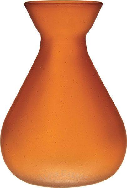 Mango Orange Frosted Glass Vases Bulb Design First Birthday Love