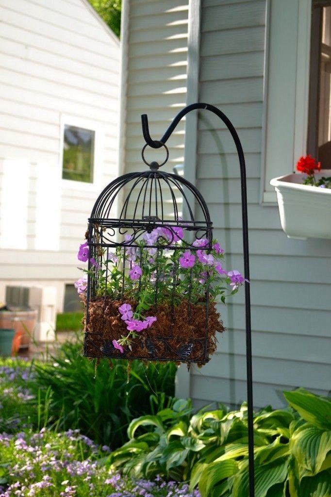clever ways to make your garden even more beautiful with bird cage planters  home decors  20 clever ways to make your garden even more beautiful with bird cage planters 2...