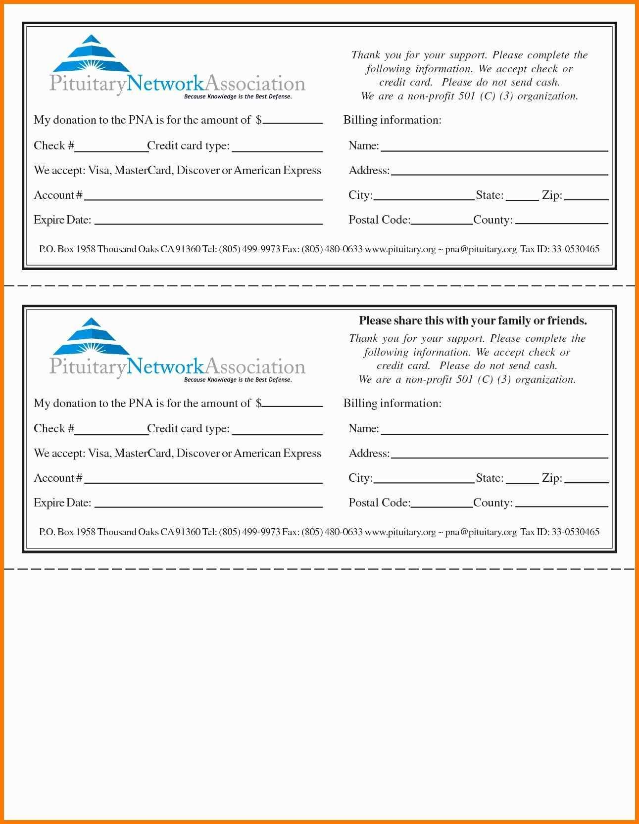 Pledge Forms Template Awesome 55 Inspirational Graph Intended For