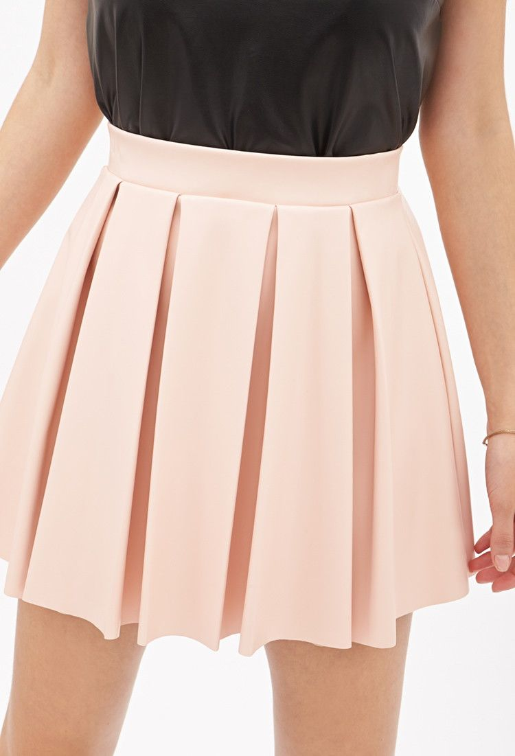 c910d9b49c Pleated Faux Leather Skirt - Skirts - Skater - 2052834164 - Forever 21 EU  English