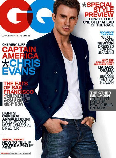Chris Evans - Captain America - GQ Magazine - July 2011