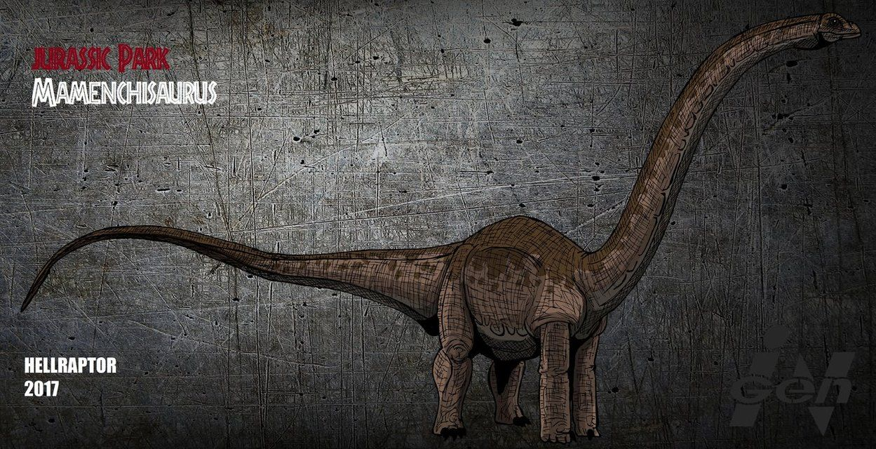 Jurassic Park: Mamenchisaurus ( new art) by Hellraptor.deviantart ...