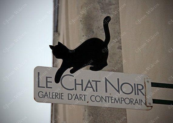 Le Chat Noir Montmartre Paris Gallery Cat Sign Original Fine Etsy Photography Prints Art Le Chat Noir Fine Art Photography Print