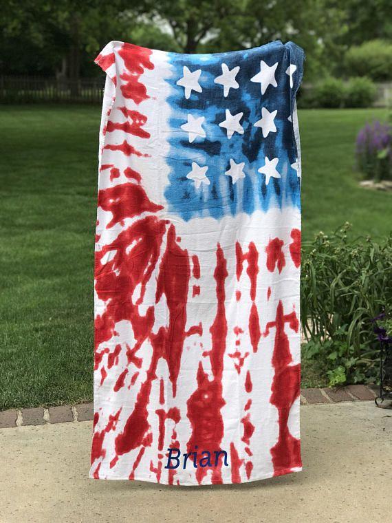 4th of July Rhinestone Towel