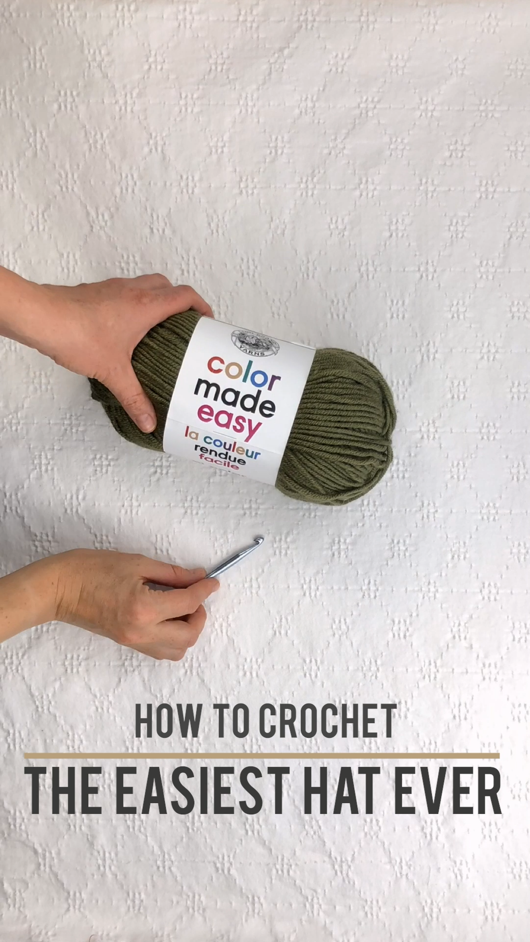 Easy Crochet Hat for Beginners – Free Pattern + Video Tutorial  – Knitting & Crocheting