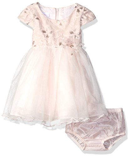 20b7afa4c84a4 Bonnie Baby Baby Sequin Embroidered Ballerina Dress Pink 12 Months --  Proceed to the product at the picture web link.