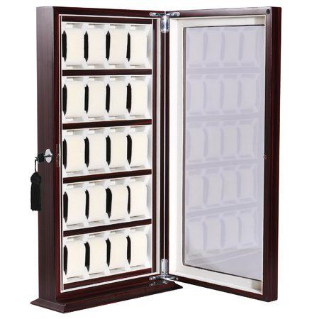Antique Style Wooden 20 Watch Display Cabinet Storage Box Mega Brands Http