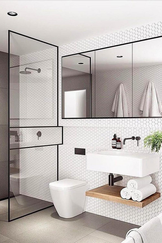 How To Make A Bathroom Look Bigger Minimalist Bathroom Modern Bathroom Design Small Bathroom