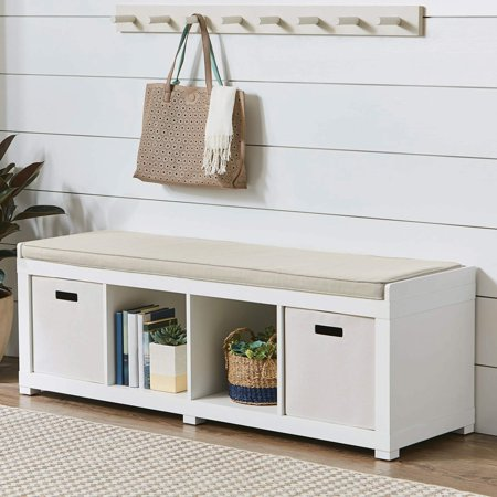 Better Homes And Gardens 4 Cube Organizer Storage Bench Multiple Finishes Walmart Com In 2020 Cube Storage Bench Storage Bench Cubby Storage Bench